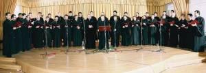 """Η Ο.Ε.ΒΥ.Χ. στο Πολιτιστικό Κέντρο του Δήμου Κηφισιάς σε συναυλία με τίτλο """"Ίδε ο Αμνός"""" στις 8 Απριλίου 2009."""