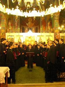 Η Ο.Ε.ΒΥ.Χ. σε πασχαλινή συναυλία στον Ι. Ναό Γεννήσεως του Χριστού στην Παιανία στις 10 Απριλίου 2009.