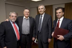Μέγαρο Μουσικής. Από αριστερά: Γιάννης Συγλέτος, Μιχάλης Μακρής, Παύλος Τούτουζας, Νικόλας Βαφειάδης. 31-03-2012